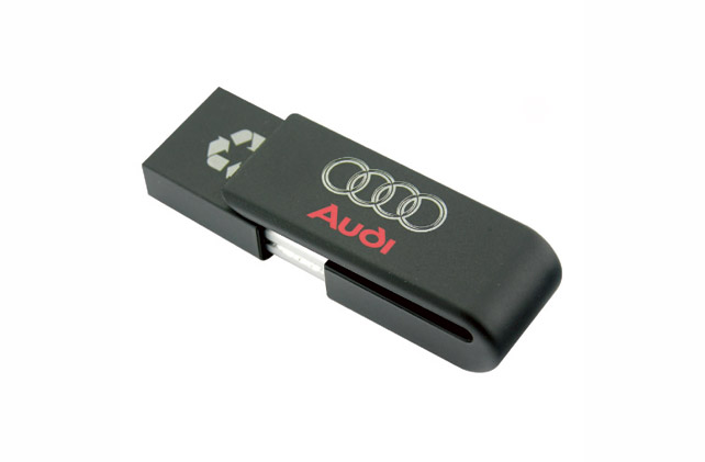 Clip USB Flash Drive Printed with Audi Logo